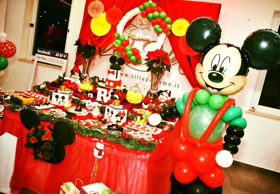 Primo Compleanno Tema Topolino Natale Villa Palermo Villa